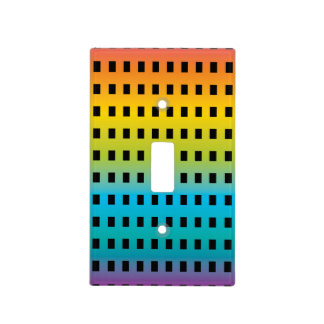 Neon glow in the dark colorful fluorescent 2 light switch cover