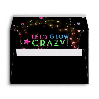 Neon Glow in the Dark Party Kids Birthday 5X7 Envelope