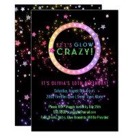 Neon Glow in the Dark Party | Kids Birthday Card