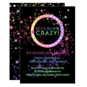 Kids birthday invitations zazzle neon glow in the dark party kids birthday invitation filmwisefo