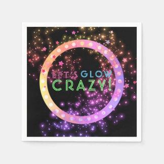 Neon Glow in the Dark Party | Kids Birthday Stars Napkin