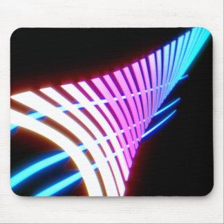 Neon glow leaf design mouse pad