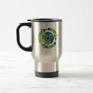 Neon Glow Recycle Travel Mug