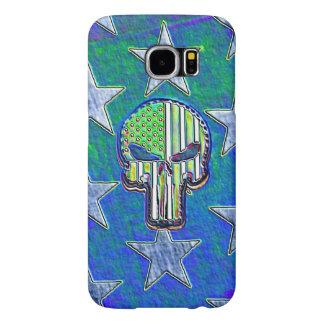Neon Glow Skull and Stars Samsung Galaxy S6 Case