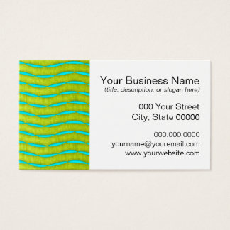Neon Glow Yellow and Turquoise Bright Fun Pattern Business Card