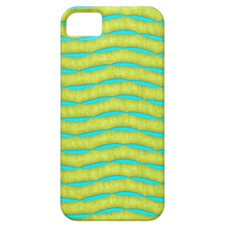 Neon Glow Yellow and Turquoise Bright Fun Pattern iPhone SE/5/5s Case