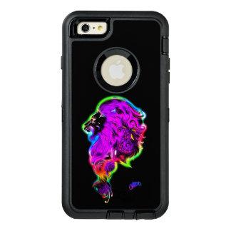 Neon Glowing Fierce Lion OtterBox Defender iPhone Case