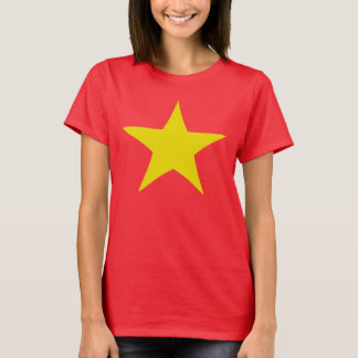 Neon Gold Star Design T-shirt