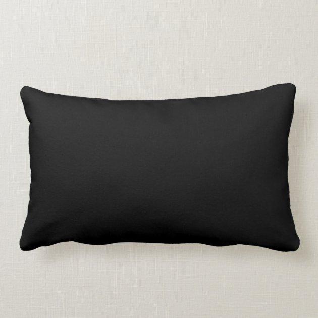 Blue And Black Pillows Part - 27: Neon Gold Yellow, Blue Shinny Long Fish And Black Lumbar Pillow   Zazzle.com