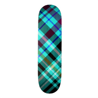 Neon Gothic Plaid Skateboard