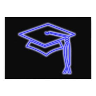 Neon Grad Cap Blue Card