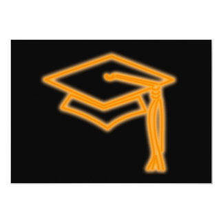 Neon Grad Cap Orange Card