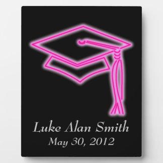 Neon Grad Cap Pink Plaque