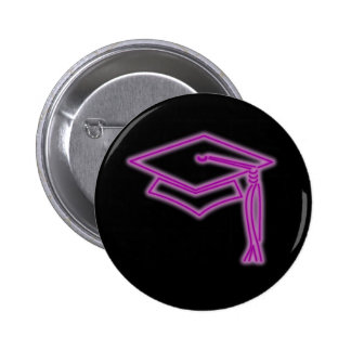 Neon Grad Cap Purple Button