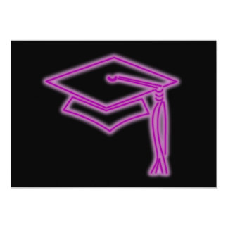 Neon Grad Cap Purple Invite