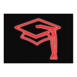 Neon Grad Cap Red Invite