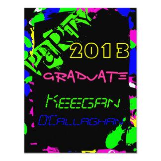 Neon Graduation Party Invitation