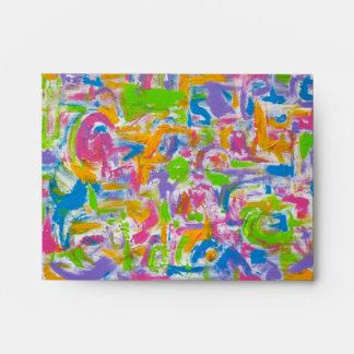 Neon Graffiti-Abstract Art Brushstrokes Envelope