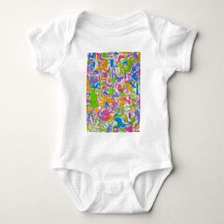 Neon Graffiti-Abstract Art Brushstrokes Tee Shirt
