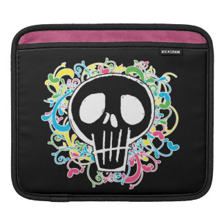 Neon Graffiti Skull iPad Sleeve