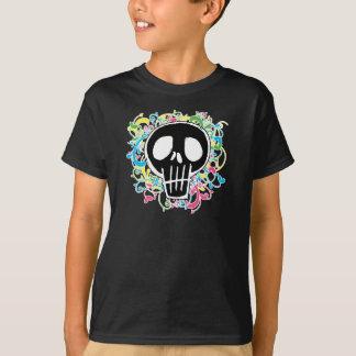 Neon Graffiti Skull T-Shirt