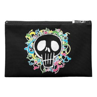 Neon Graffiti Skull Travel Accessory Bags