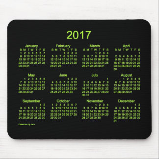 Neon Green 2017 Calendar by Janz Mouse Pad