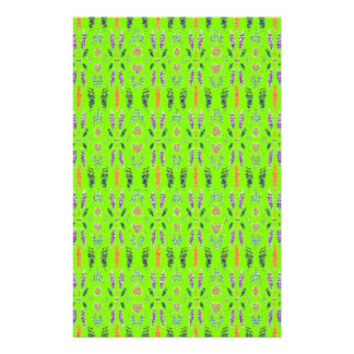 Neon Green Abstract Digital Art Pattern Customized Stationery