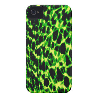 Neon Green Abstract Sound Waves iPhone 4/4S Case iPhone 4 Cases