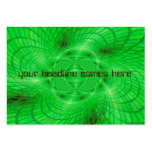 neon green abstraction business card templates
