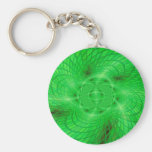 neon green abstraction key chain
