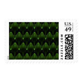 Neon green Alien Head Postage Stamp