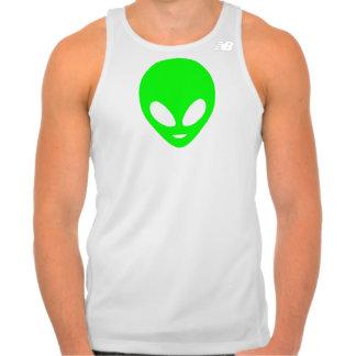 Neon Green Alien New Balance Running Tank Top