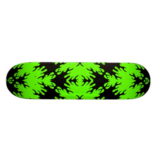 Neon Green and Black Abstract Skateboard Decks