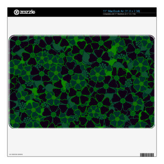 Neon Green and black flower garden Skin For The MacBook Air