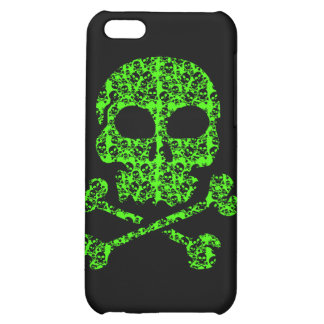 Neon Green and Black Skulls for Halloween Case For iPhone 5C
