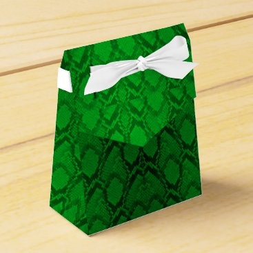 Valentines Themed Neon Green and Black Snake Skin Reptile Scales Favor Box