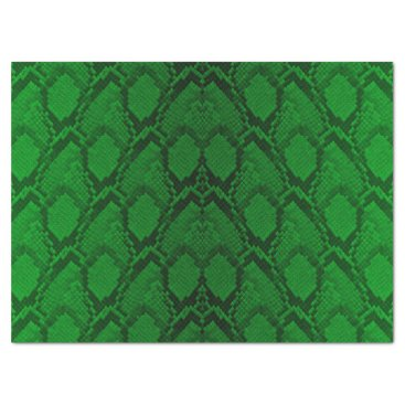 Halloween Themed Neon Green and Black Snake Skin Reptile Scales Tissue Paper