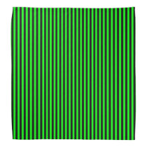 Neon Green And Black Stripes Bandana