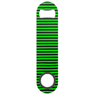 Neon Green And Black Stripes Bar Key
