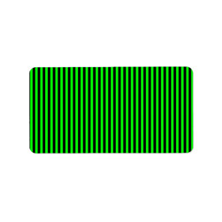 Neon Green And Black Stripes Label