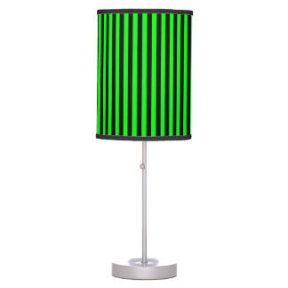 Neon Green And Black Stripes Desk Lamps