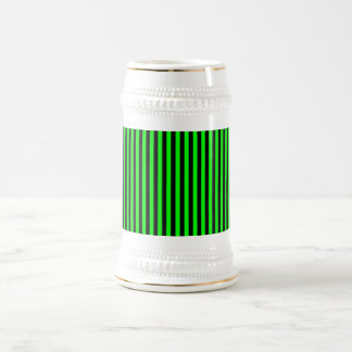 Neon Green And Black Stripes Mugs