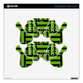 Neon Green and Black T Weave PS3 Controller Decal