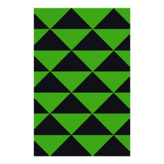 Neon Green and Black Triangles Stationery