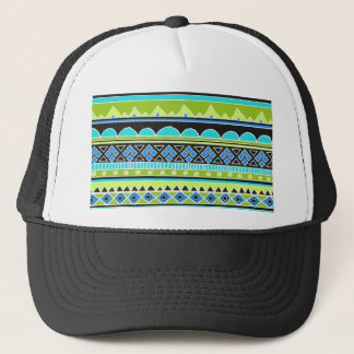 Neon Green and blue tribal pattern Trucker Hat