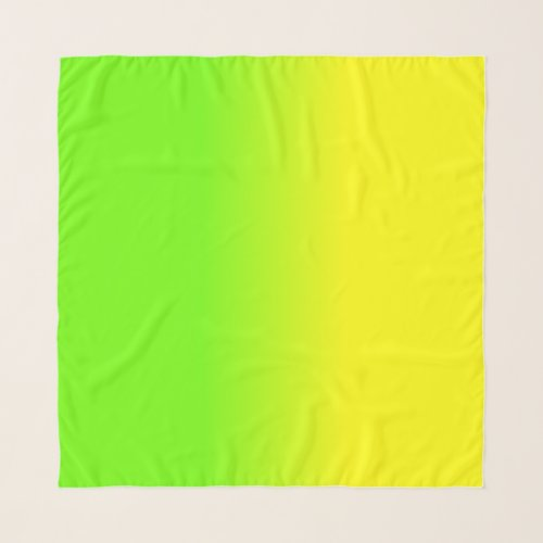 Neon Green and Neon Yellow Ombré  Shade Color Fade Scarf