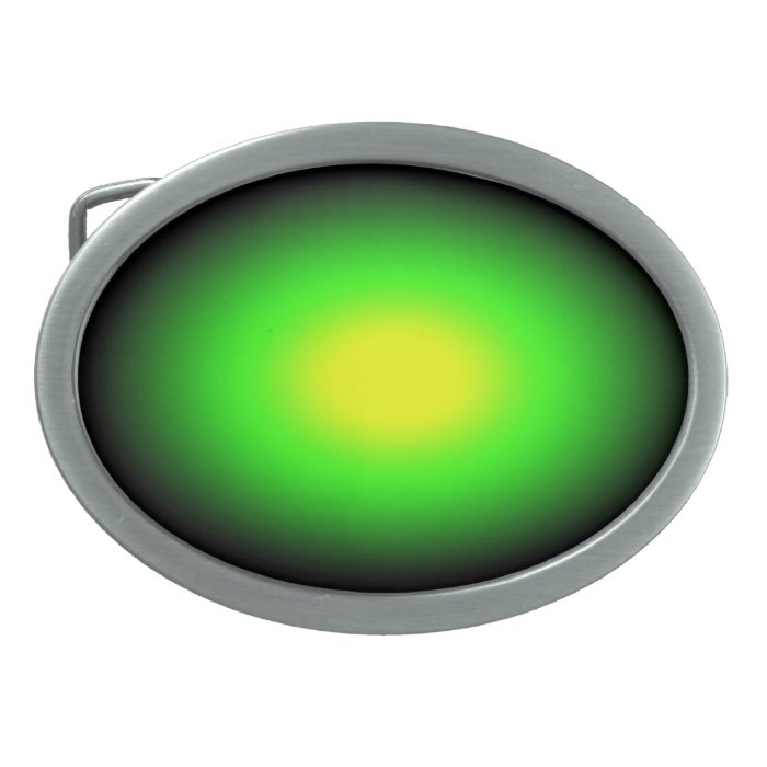 Neon Green and Yellow Belt Buckle