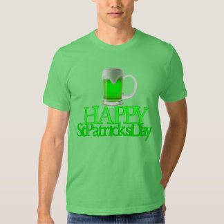 Neon Green Beer Blurred Happy St. Patrick's Day T Shirt