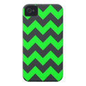 Neon green black chevron pattern iPhone 4 cover